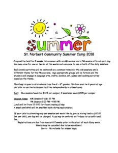 2018 Summer Camp FLYER INFO SHEET pdf 232x300 - 2018 Summer Camp - FLYER & INFO SHEET