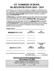 Re REGISTRATION FORM Returning Families 2018 2019 BLANK pdf 232x300 - Re-REGISTRATION FORM - Returning Families 2018 - 2019 - BLANK
