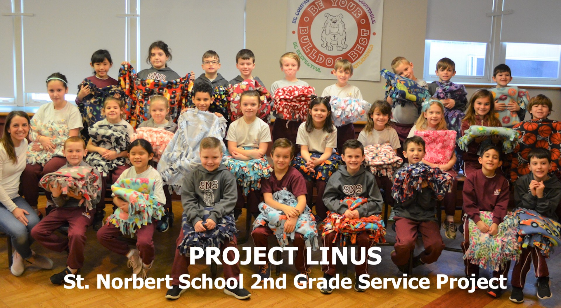 RoundUP SNS 03012019 - 2nd Graders Participate in Project Linus Service Project